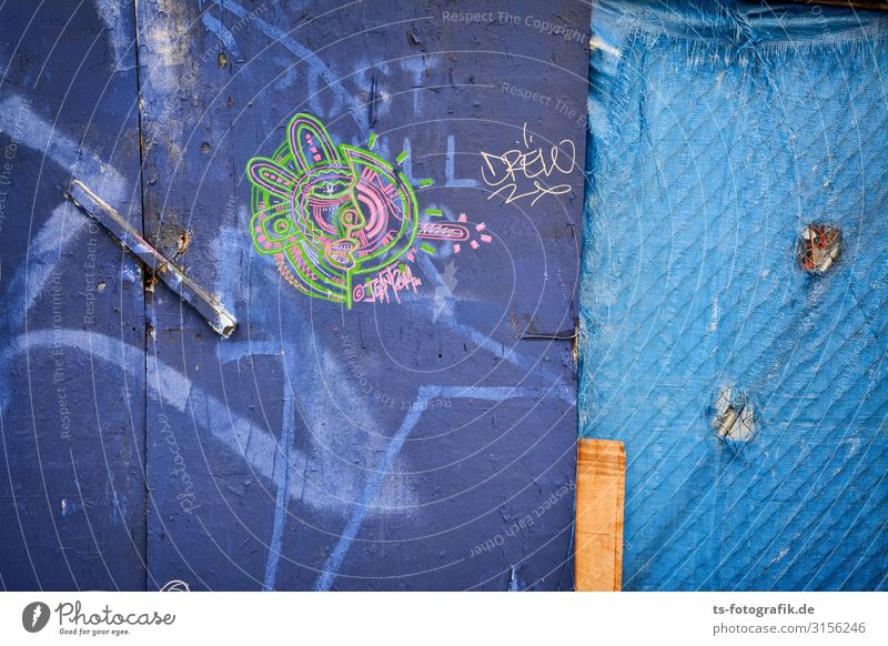 Building fences in Manhattan City trip Workplace Construction site Economy Business Art Artist New York City Wall (barrier) Wall (building) Facade Hoarding Wood