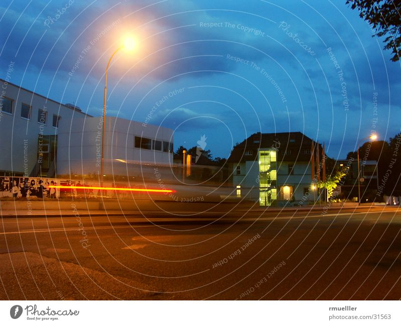 Sky House (Residential Structure) Street Car Building Architecture Speed Modern Vehicle Night shot