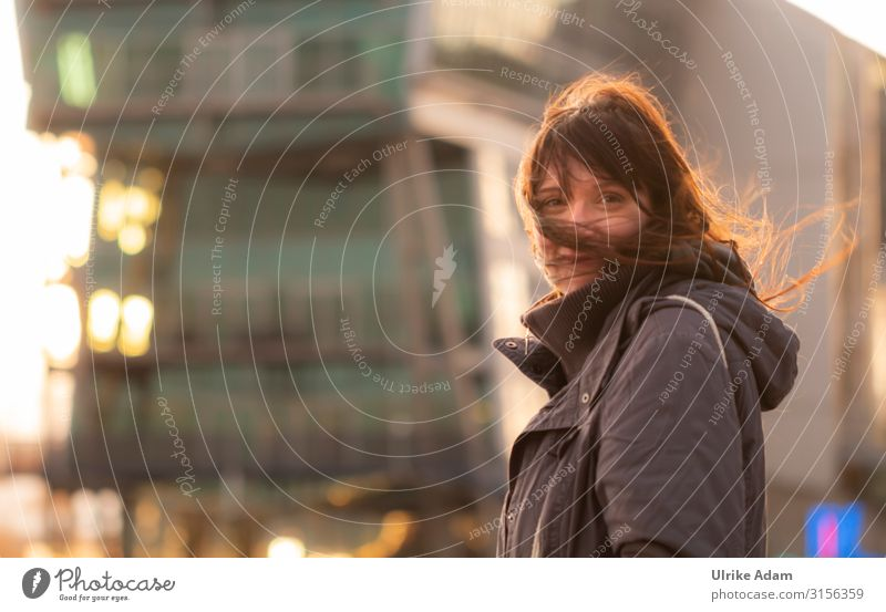 Woman Human being Beautiful Adults Life Feminine Happy Moody Contentment Illuminate Glittering Smiling Wind Romance Warm-heartedness Visual spectacle