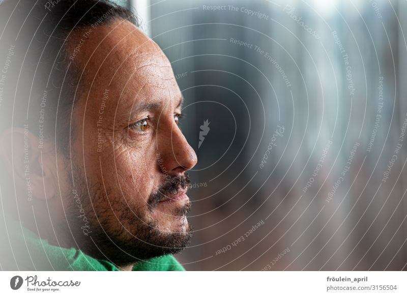 Profile | UT HH19 Face Masculine Man Adults Head Facial hair Human being 45 - 60 years Black-haired Long-haired Beard Observe Think Looking Uniqueness Modern