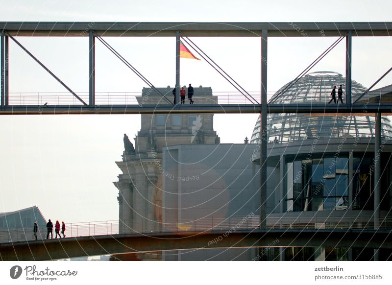 government quarter Architecture Berlin Reichstag Germany German Flag Federal eagle Capital city Federal Chancellery Parliament Government Seat of government