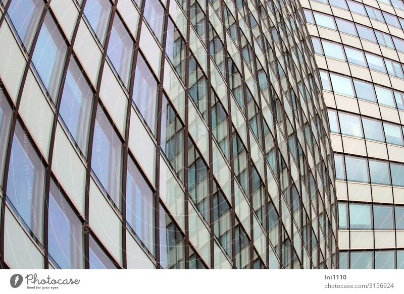 Blue Green White Black Architecture Facade Gray High-rise Glass Perspective Hamburg Concrete Manmade structures Bank building Factory Steel