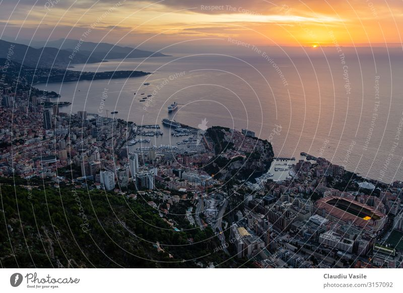 Monaco viewed from above at Sunrise Lifestyle Luxury Elegant Money Vacation & Travel Tourism Summer Summer vacation Monte Carlo Europe France Cote d'Azur