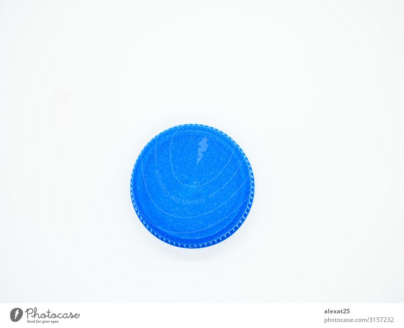 Blue plastic stopper isolated Colour White Group Design Vantage point Industry Beverage Plastic Collection Trash Bottle Top Conceptual design Recycling