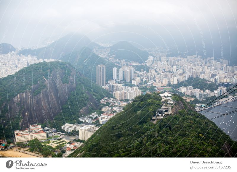 Rio De Janeiro Vacation & Travel Tourism Far-off places Sightseeing City trip Fog Hill Mountain Town Downtown Overpopulated House (Residential Structure) Hut