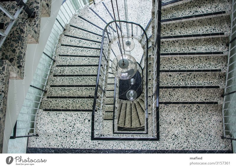 stairwell Lamp Coal power station House (Residential Structure) Industrial plant Stairs Stone Concrete Glass Metal Design Colour photo Subdued colour