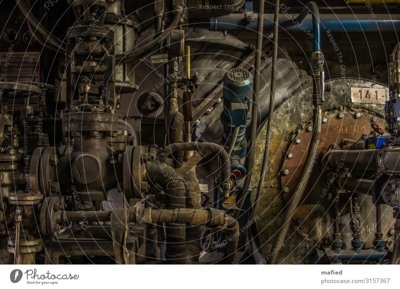 Inside the Death Star. Industry Energy industry Machinery boiler plant Coal power station Energy crisis Industrial plant Dirty Dark Brown Gray Green
