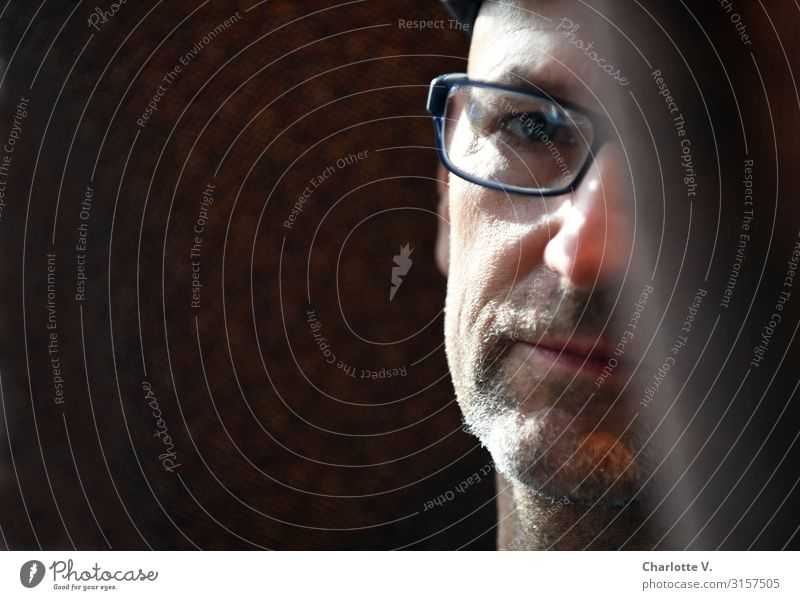 Thoughtful | UT HH19 Human being Masculine Man Adults Male senior Senior citizen Life 45 - 60 years Eyeglasses Designer stubble Observe Think Looking Dream