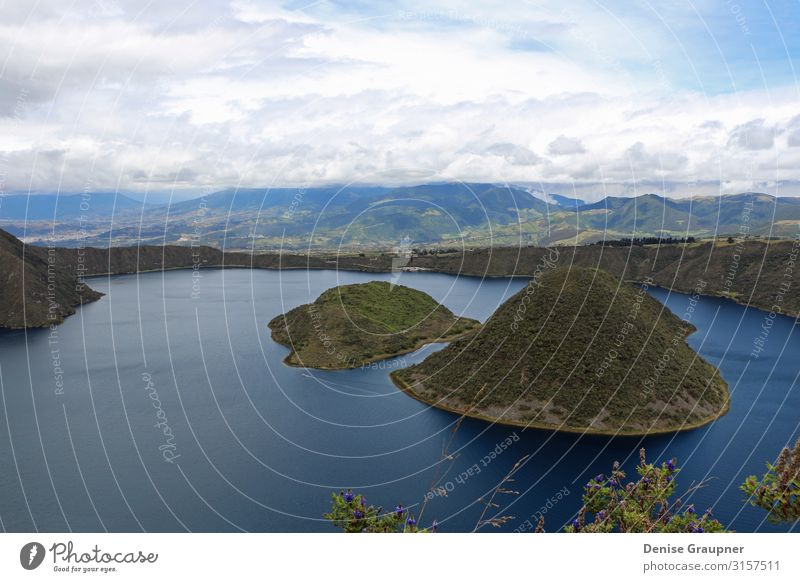 Crater lake in Ecuador in cloudy skies Leisure and hobbies Vacation & Travel Hiking Environment Nature Landscape Water Climate Climate change Weather
