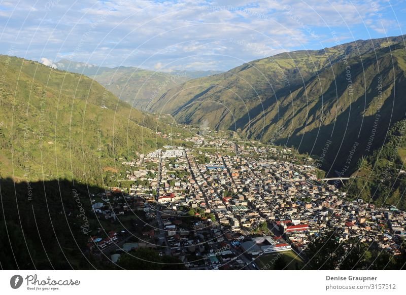 The city of Banos in Ecuador from above Tourism Trip Adventure Sightseeing Summer Environment Nature Landscape Climate Climate change Weather Beautiful weather
