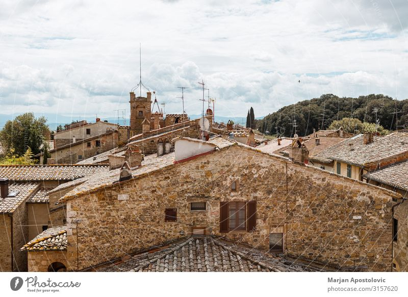 Rooftops of old buildings in San Quirico, Italy Vacation & Travel Tourism Architecture Europe Small Town Old town Colour photo Exterior shot Deserted Day