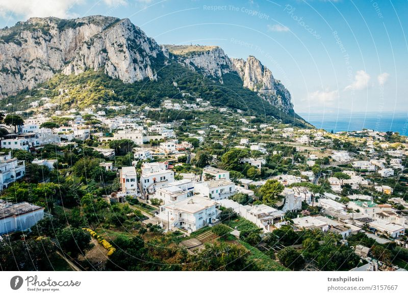 capri Vacation & Travel Tourism Trip Adventure Far-off places Freedom Sightseeing City trip Hill Rock Mountain Coast Bay Ocean Island Capri Wanderlust Italy
