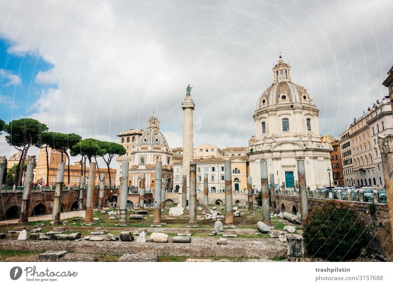 Roman Forum Rome Italy Europe Capital city Old town Manmade structures Building Architecture Facade Tourist Attraction Landmark Monument Forum Romano