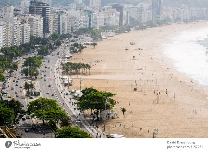 Copacabana Vacation & Travel Tourism City trip Summer vacation Beautiful weather Waves Coast Beach Bay Ocean Town Downtown Overpopulated