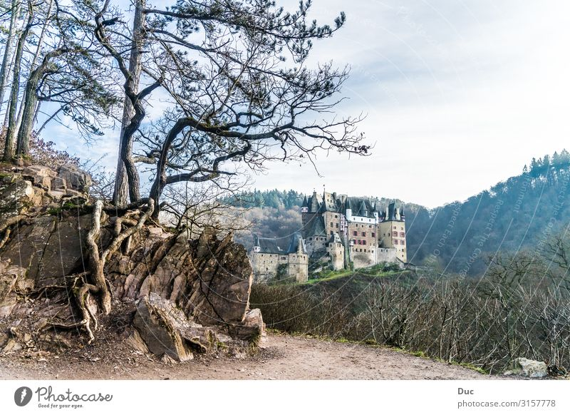 Castle Eltz Leisure and hobbies Vacation & Travel Tourism Adventure Far-off places Expedition Winter Environment Nature Landscape Tree Rock Mountain Elz Eifel