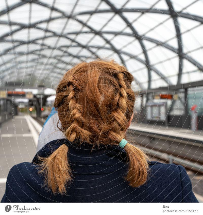 Woman Head Transport Hamburg Train station Braids