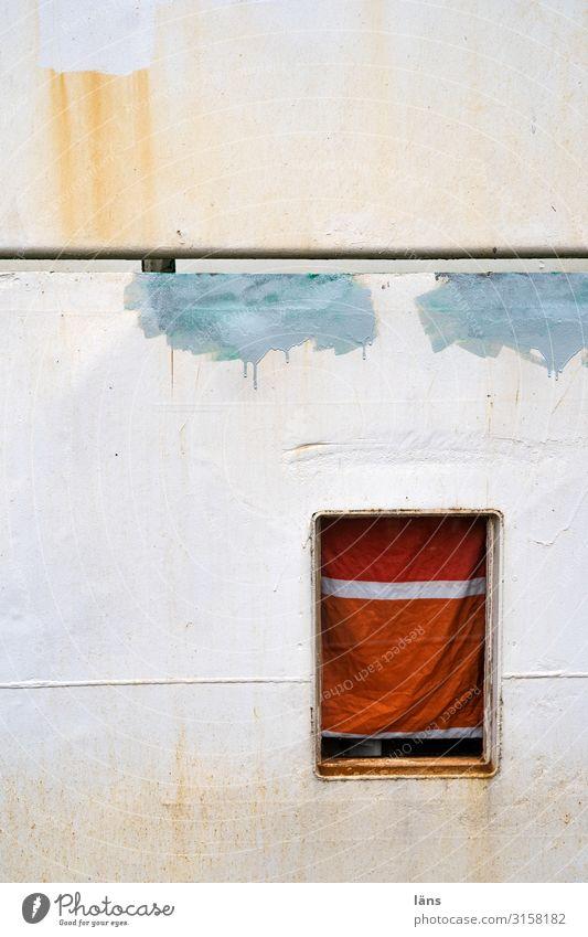 Colour Window Watercraft Hamburg Harbour Rust
