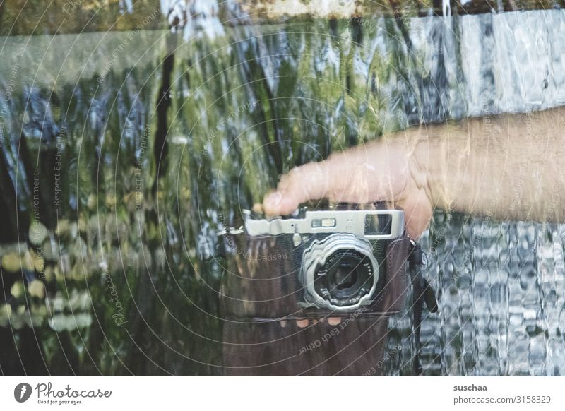 water photography Photography Camera Take a photo Image Vista Transparent Water Flow Movement Hand Lens Objective Attempt Experimental masculine