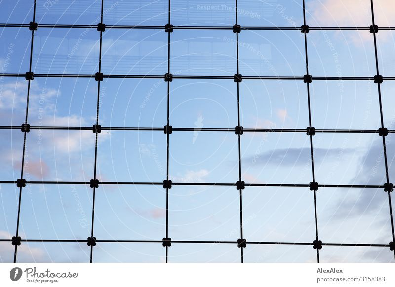 Sky Blue Town Clouds Far-off places Window Open Esthetic Perspective Threat Captured Grating Backwards Boundary Rectangle Cuboid