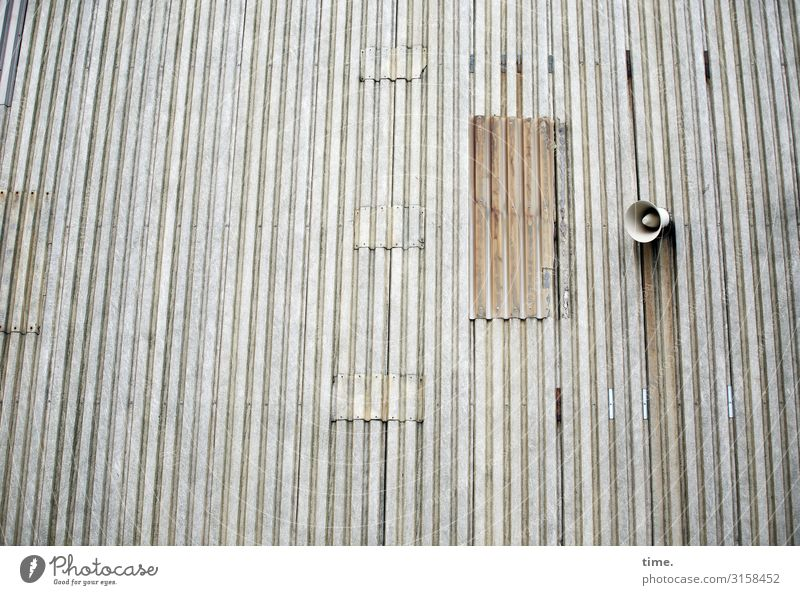 Loneliness Wall (building) Wall (barrier) Technology Perspective Transience Broken Historic Past Decline Fatigue Exhaustion Loudspeaker Disappointment Siren