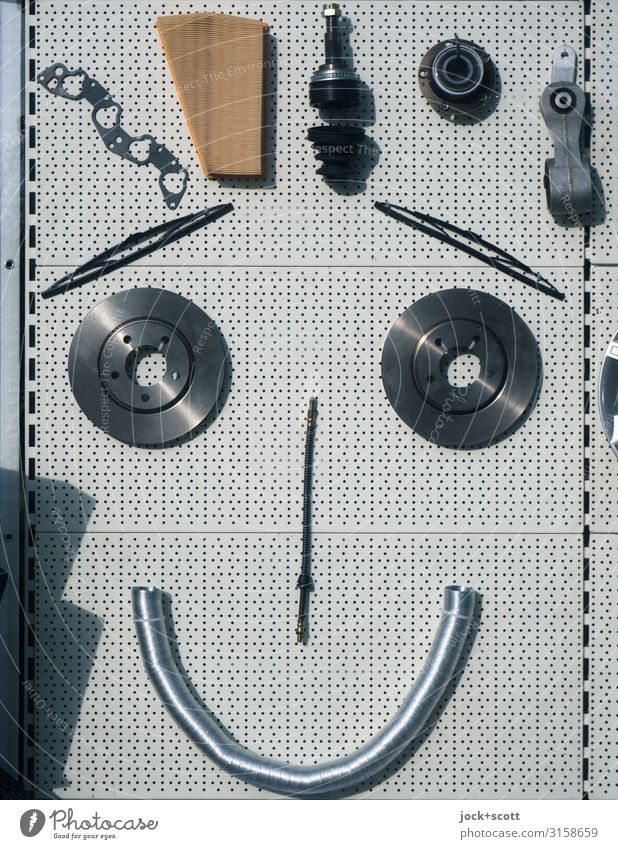 Emoticon in the shop window Technology Part Decoration Metal Hang Authentic Glittering Uniqueness Funny Nerdy Moody Happiness Optimism Orderliness Idea