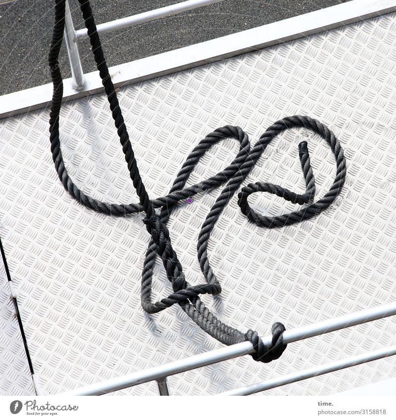 White Black Time Line Metal Communicate Arrangement Perspective Change Help Round Rope Handrail Serene Navigation Thin