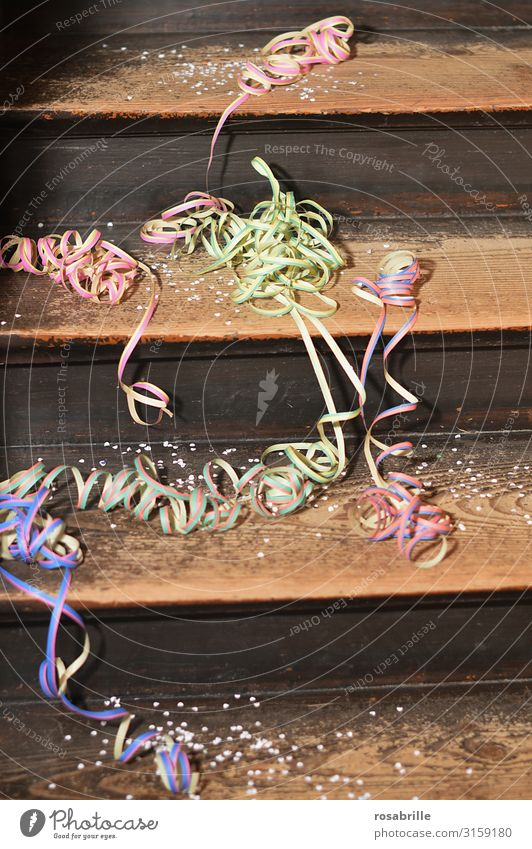 Joy Feasts & Celebrations Party Decoration Stairs Dirty Happiness Transience Cleaning Pure Event Carnival End Confetti Purity