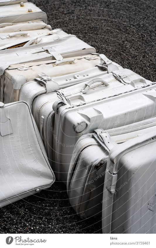 the suitcases are packed Hamburg Street Suitcase White Beginning Resolve Expectation Vacation & Travel Leisure and hobbies Arrangement Change Lanes & trails