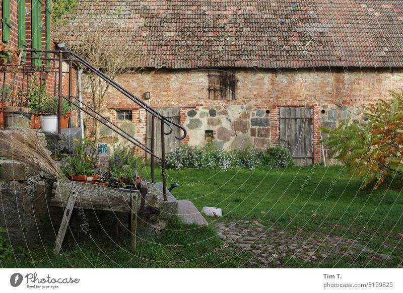 farm Village Deserted House (Residential Structure) Manmade structures Building Farm Wall (barrier) Wall (building) Garden Door Sustainability Independence Past