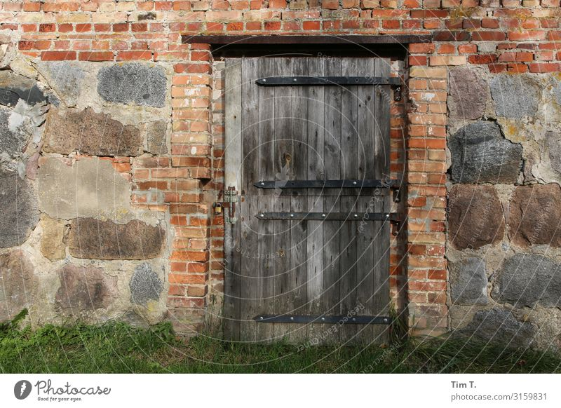 farm Poland House (Residential Structure) Manmade structures Building Barn Door Time Farm Stone Wall (barrier) Colour photo Exterior shot Deserted Day