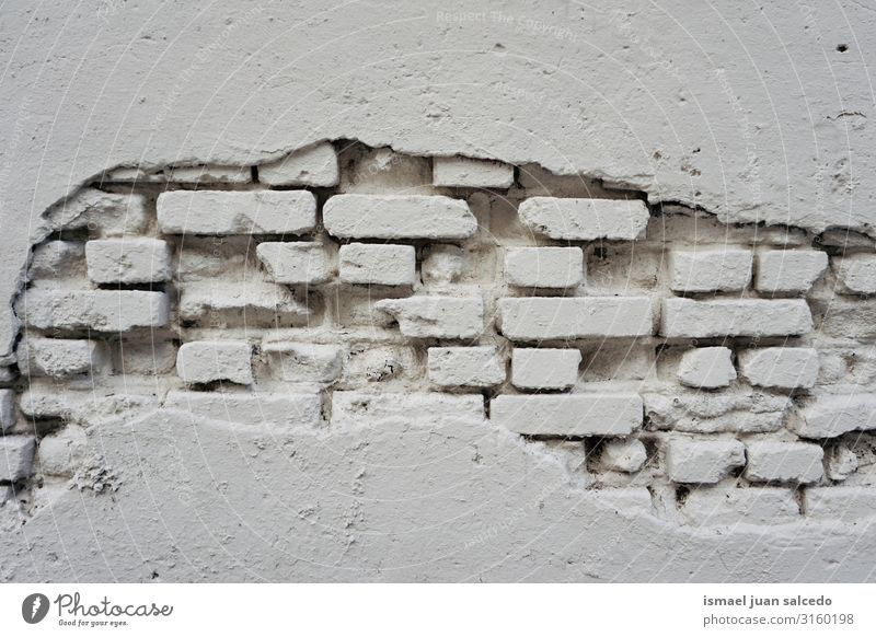 ol white wall broken on the facade of the building Wall (building) White Consistency Pattern Stone Broken Neutral Background Background picture Abstract Old