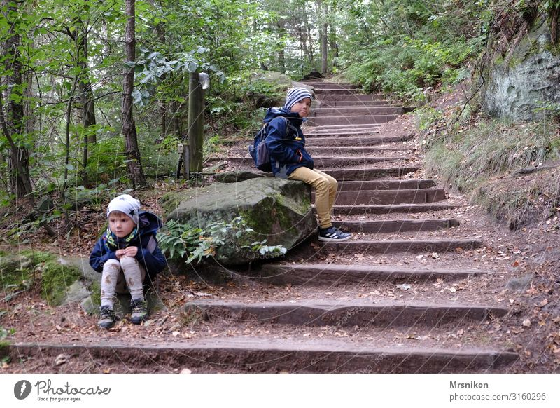 Child Human being Vacation & Travel Mountain Life Autumn Natural Family & Relations Boy (child) Tourism Together Rock Trip Hiking Infancy Adventure