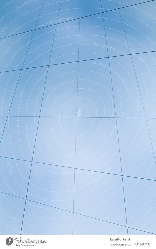 Time for your own rope teams Sky Cloudless sky Decoration Line Blue Rope Cable Geometry Graph Graphic Colour photo Exterior shot Abstract Pattern Deserted