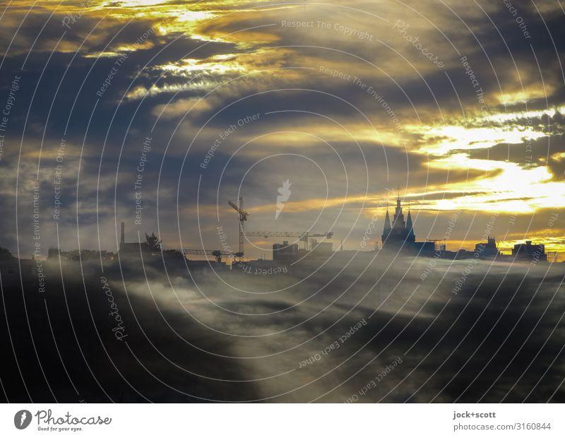 Adieu Weltschmerz Quarter Town Sky Clouds Summer Illuminate Dream Exceptional Infinity Warmth Moody Wisdom Longing Eternity Complex Surrealism Survive Change