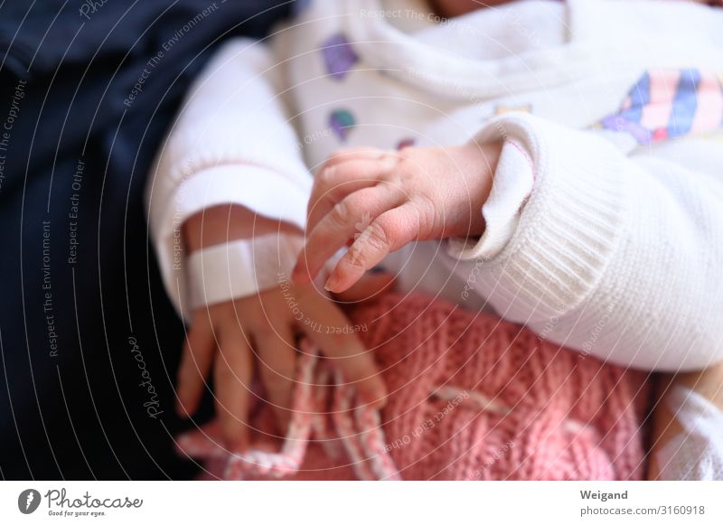 first day Baptism Human being Child Baby 1 Touch Movement Colour photo Interior shot Copy Space bottom