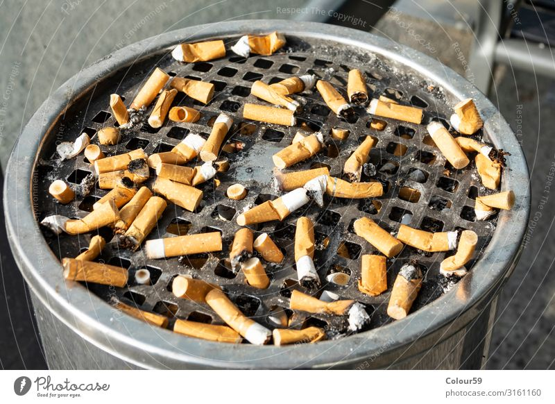 Cigar butts Lifestyle Smoking Trashy cigarrettes cigarette butt tip Ashtray Expressed Unhealthy Addiction smoking break Filter-tipped cigarette Colour photo