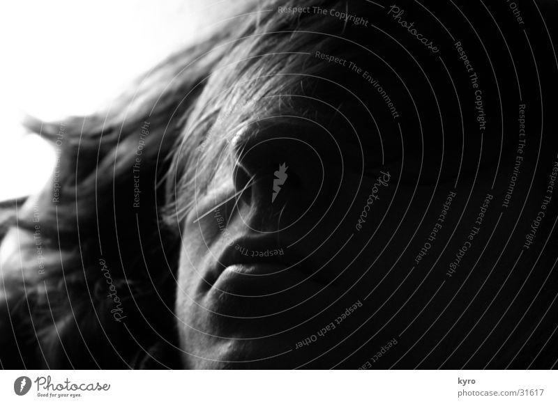 Man Face Dark Hair and hairstyles Dream Mouth Nose Sleep Fatigue Doze