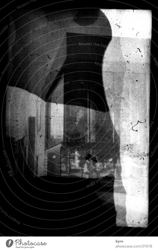 photo experiment 2 Unclear Building Facade Window Scratch mark Overexposure Edge Negative Photo laboratory Experimental Progress Corner Exposure Development