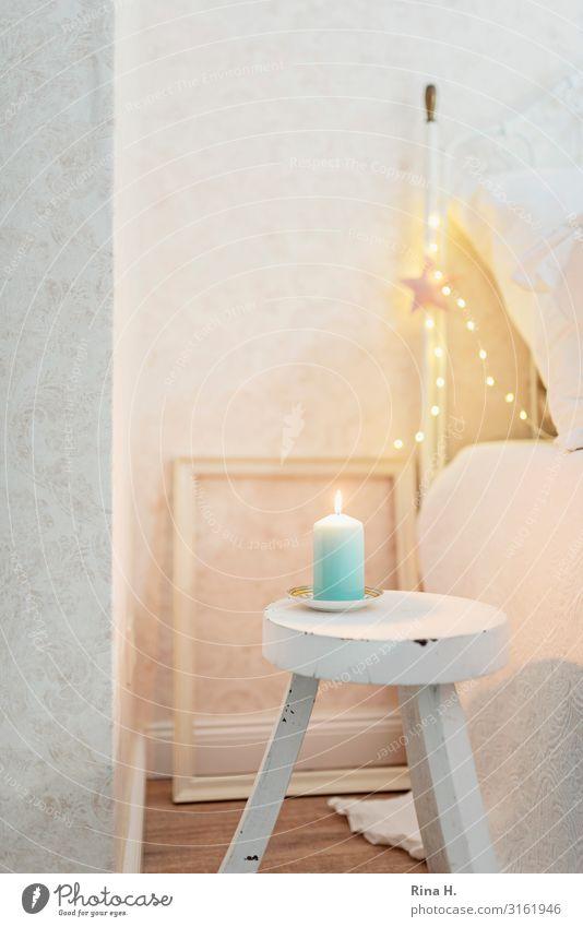minimalism Lifestyle Style Interior design Decoration Bed Bedroom Stool Christmas & Advent Illuminate Simple Bright Retro Moody Joie de vivre (Vitality)