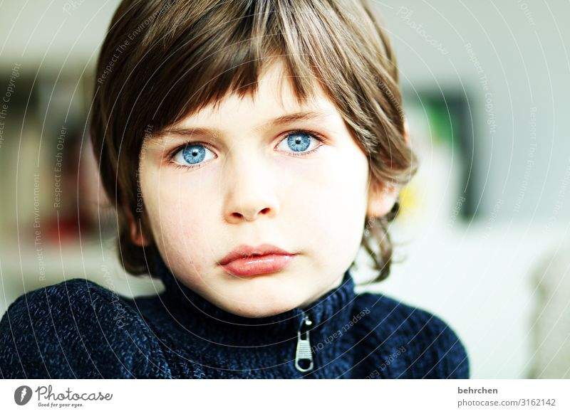behind blue eyes Child Boy (child) Family & Relations Infancy Skin Head Hair and hairstyles Face Eyes Nose Mouth Lips 3 - 8 years Dream Beautiful Blue Sadness