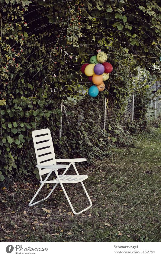 Happy Birthday (to you) Party Event Feasts & Celebrations Garden Balloon Plastic Sadness Gloomy Multicoloured Green White Emotions Moody Joy Together Loneliness