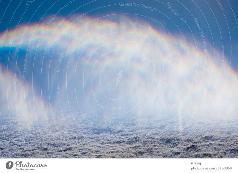 Unsharp | Atmospheric disturbances Nature Air Winter Ice Frost Snow Exceptional Uniqueness Blue Disturbance Prismatic colors Refraction Arch Phenomenon opaque