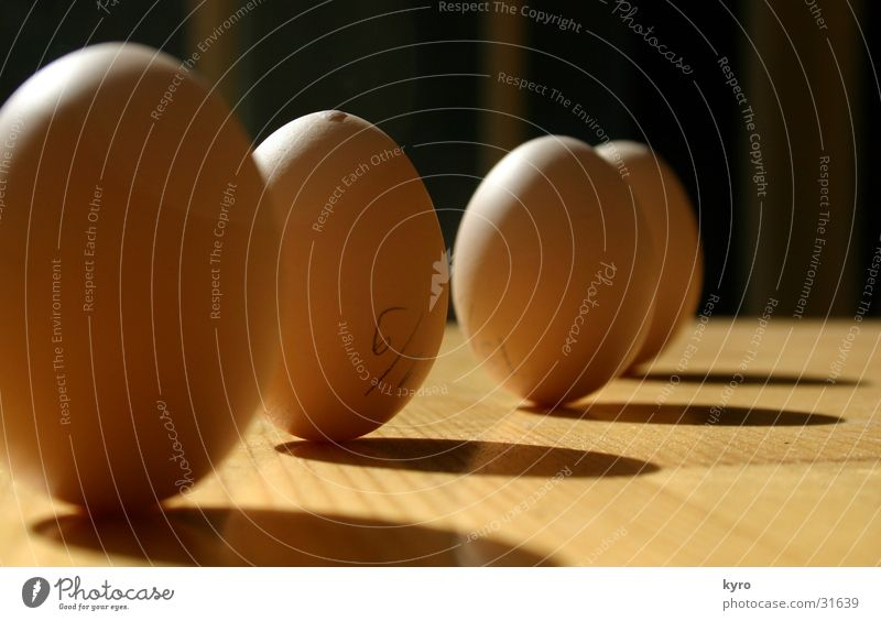 EI!?. Table Light Contentment Wonder Phenomenon 4 Barn fowl Wood Obscure Egg Shadow Perspective Row Chain Structures and shapes Nature