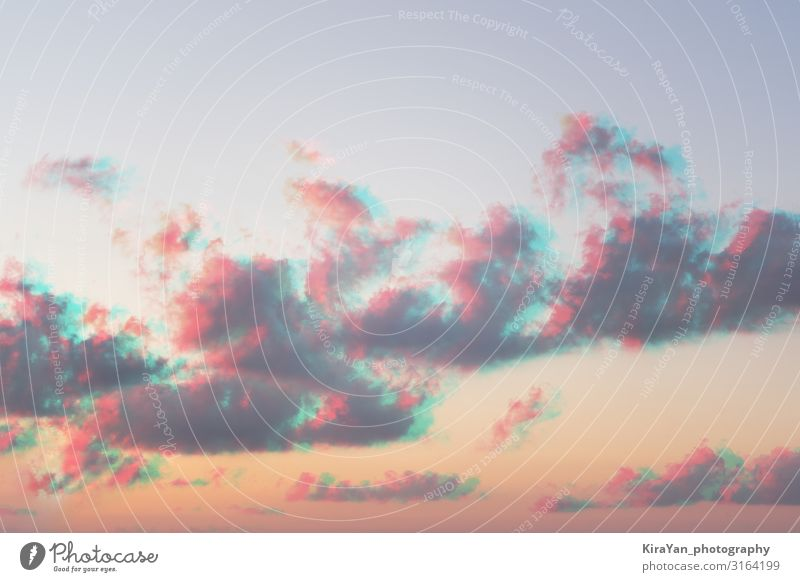 Abstract watercolor pastel colors clouds sky with glitch effect vintage gradient season heaven inspiration texture abstract background beautiful blue cloudscape