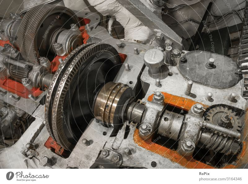 Steam turbine with gearbox. Lifestyle Design Leisure and hobbies Tourism Sightseeing Education Science & Research Work and employment Profession Workplace