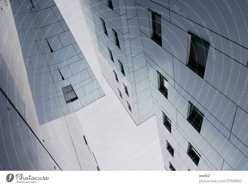 Living nightmare Rostock Port City Downtown House (Residential Structure) Building Wall (barrier) Wall (building) Facade Window Tall Town Smoothness Impersonal