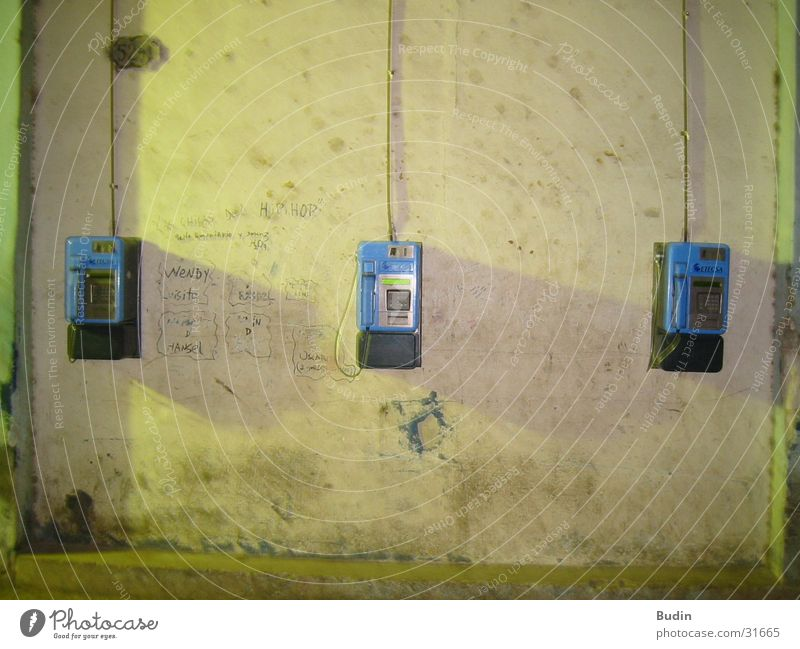 Wall (building) Telephone Things Cuba Havana Wall-mounted telephone
