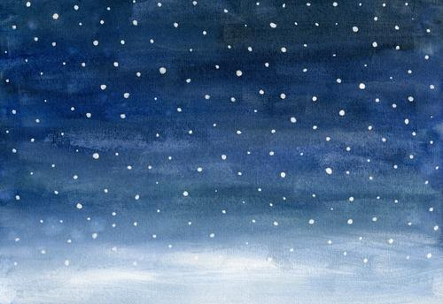 snow Winter Snow Winter vacation Feasts & Celebrations Christmas & Advent New Year's Eve Art Painting and drawing (object) Watercolors Environment Nature