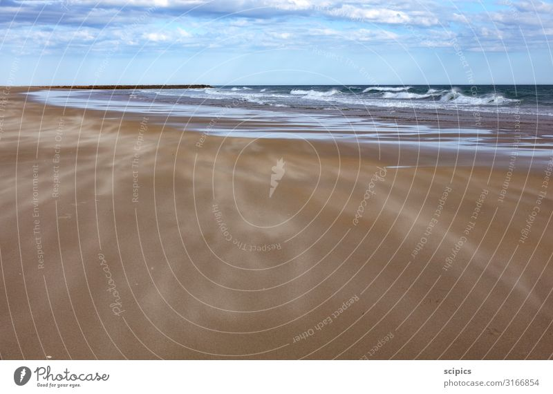 Wind and waves Life Vacation & Travel Tourism Ocean Waves Swimming & Bathing Environment Landscape Water Sky Clouds Horizon Gale Coast Beach Baltic Sea Stone