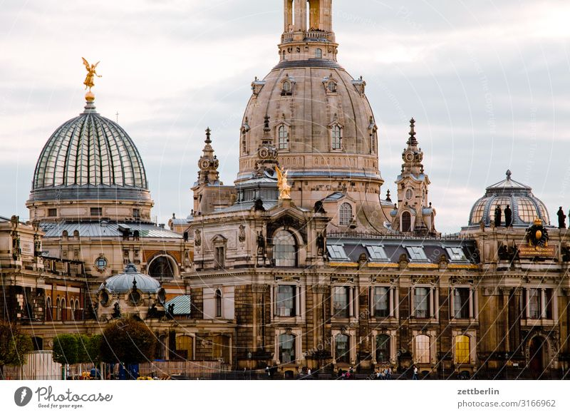 Brühl's Terrace again Old town Ancient Architecture Baroque Dresden Elbufer Elbe Classical Culture Capital city Vacation & Travel Travel photography
